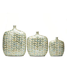 Palawan Teardrops Set of 3 Lacquered Jug Vases