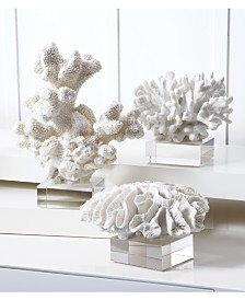 Two's Company Coral Reef Sculptures, Set of 3