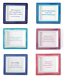 Wise Sayings Set of 6 Trays in Gift Box