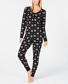 Jenni Thermal One-Piece Pajama, Created for Macy's