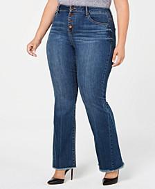 Trendy Plus Size Flare-Leg Jeans