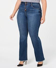 Seven7 Jeans Trendy Plus Size Flare-Leg Jeans