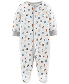 Carter's Little Planet Organics Baby Boys Alphabet-Print Cotton Coverall