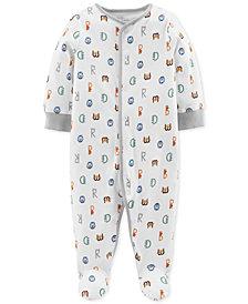 Carter's Little Planet Organics Baby Boys Alphabet-Print Cotton Coverall