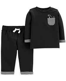 Carter's Baby Boy 2-Pc. Dino Graphic Shirt & Joggers Set