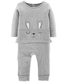Carter's Baby Girls Layered-Look Bunny Coverall