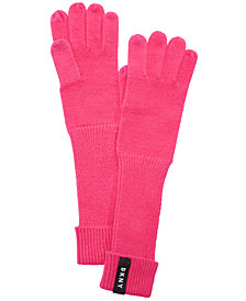 DKNY Ribbed-Knit Extended Touch Gloves