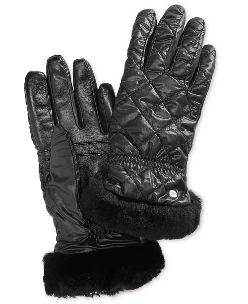 883f582bf83b UGG® Shearling-Trim Touchscreen Gloves   Reviews - Handbags ...