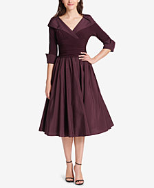 Jessica Howard Portrait-Collar A-Line Dress