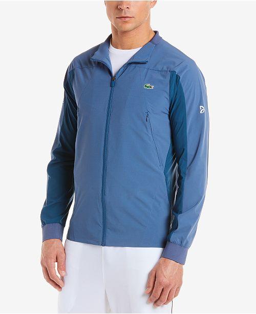 5f87157d4fc8 Lacoste Men s Novak Djokovic Off Court Water-Resistant Jacket ...
