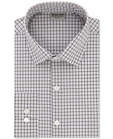Kenneth Cole Reaction Men's Techni-Cole Slim-Fit Flex Collar Three-Way Stretch Performance Check Dress Shirt