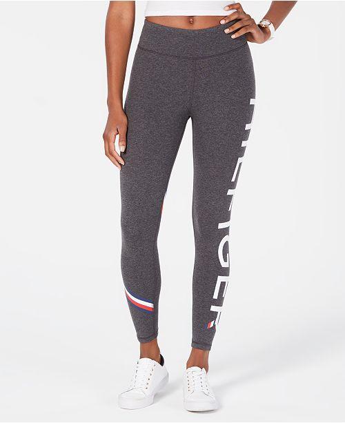 6473f04b6a817 Tommy Hilfiger Logo-Print Leggings & Reviews - Pants & Capris ...