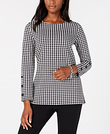 Tommy Hilfiger Houndstooth Top, Created for Macy's