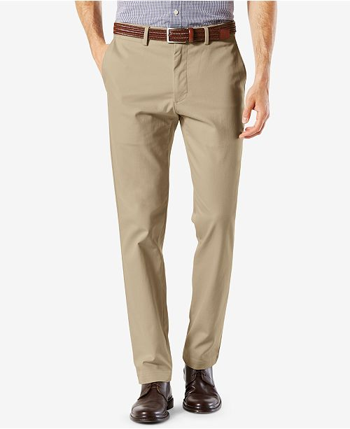 4457a8d6895a Dockers Men s Signature Lux Cotton Slim Fit Stretch Khaki Pants ...