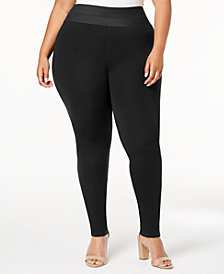 I.N.C. Plus Size Smoothing Leggings, Created for Macy's
