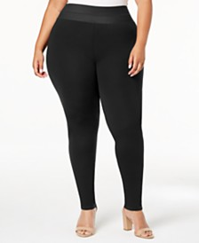I.N.C. Shaping Plus Size Smoothing Leggings, Created for Macy's