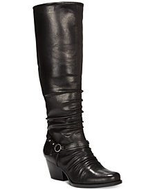Baretraps Roz Wide-Calf Block-Heel Boots, Created for Macy's