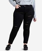 e1e9a3b5dadc3 Levi s® Plus Size 711 Distressed Skinny Jeans