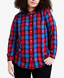 Levi's® Plus Size Ryan Cotton Plaid Relaxed Shirt