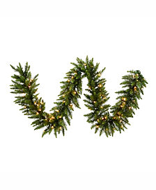 9' Camdon Fir Artificial Christmas Garland with 100 Clear Lights
