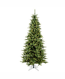 9.5' Camdon Fir Slim Artificial Christmas Tree with 1000 Warm White LED Lights.