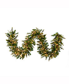 Vickerman 9' Cashmere Artificial Christmas Garland with 150 Clear Lights