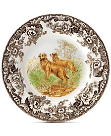 Spode Woodland Golden Retriever Salad Plate