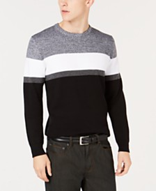 Alfani Men's Ottoman Striped Sweater, Created for Macy's
