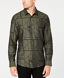 Alfani Men's Geometric Print Shirt, Created for Macy's