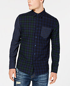 American Rag Men's Kyle Patchwork Plaid Pocket Shirt, Created for Macy's