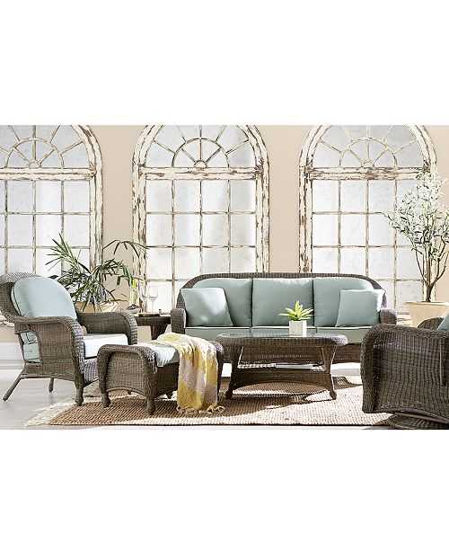 Furniture Sandy Cove Outdoor Seating Collection, with Sunbrella® Cushions, Created for Macy's