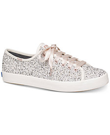 Keds Women's Kickstart Boucle Lace-Up Fashion Sneakers