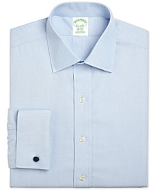 Men's Milano Extra-Slim Fit Non-Iron Broadcloth Solid Light Blue French Cuff Dress Shirt