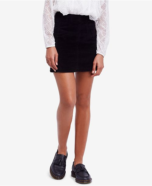 Free People Modern Femme Corduroy Mini Skirt