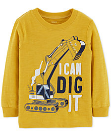 Carter's Toddler Boys Dig It Graphic Cotton Shirt