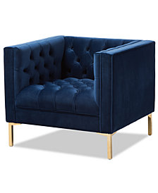 Zanetta Lounge Chair, Quick Ship