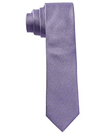 HUGO Men's Purple Neat Skinny Silk Tie