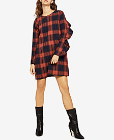 BCBGeneration Cotton Plaid Shift Dress