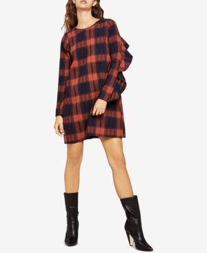 BCBGeneration Cotton Plaid Shift Dress 6838216