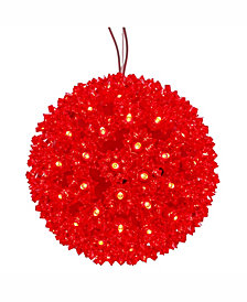 "Vickerman 10"" Starlight Sphere Christmas Ornament with 150 Red Wide Angle LED Lights"