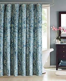 "Belcourt 72"" x 72"" Cotton Shower Curtain"