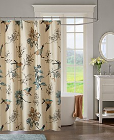 """Quincy 72"""" x 72"""" Printed Cotton Shower Curtain"""