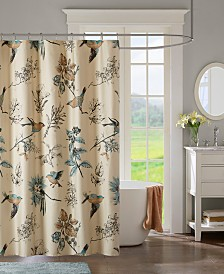 """Madison Park Quincy 72"""" x 72"""" Printed Cotton Shower Curtain"""