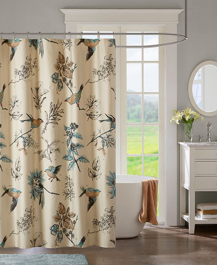 """Madison Park - Quincy 72"""" x 72"""" Printed Cotton Shower Curtain"""