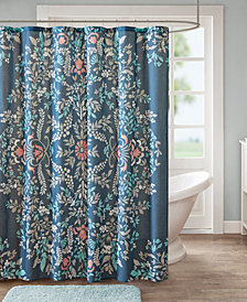 "Madison Park Eden 72"" x 72"" Cotton Printed Shower Curtain"