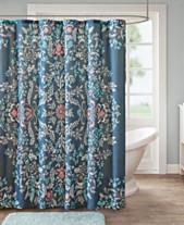Madison Park Eden 72 X Cotton Printed Shower Curtain