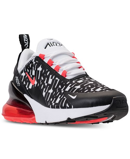 uk availability 15748 16fae Nike Boys' Air Max 270 Print Casual Sneakers from Finish ...