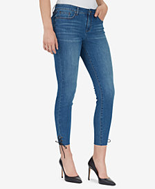 WILLIAM RAST Skinny Ankle-Tie Jeans
