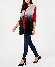 I.N.C. Ombré Faux-Fur Vest, Created for Macy's