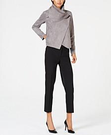 Faux-Suede Jacket & Slim-Fit Pants